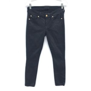 7 for All Mankind Black Shinny Skinny Jeans